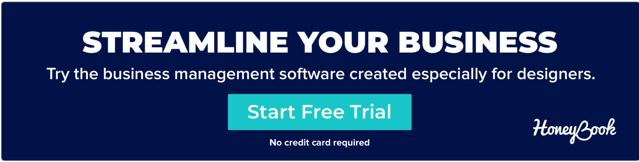 Start your free HoneyBook trial, the business management software created especially for web/graphic designers