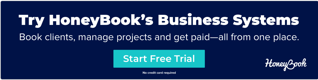 Try HoneyBook's business systems