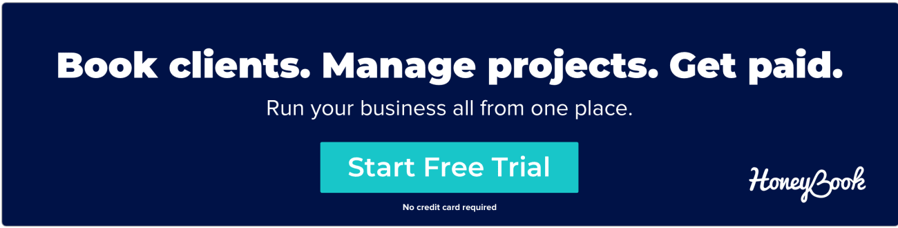 HoneyBook business management software for small business
