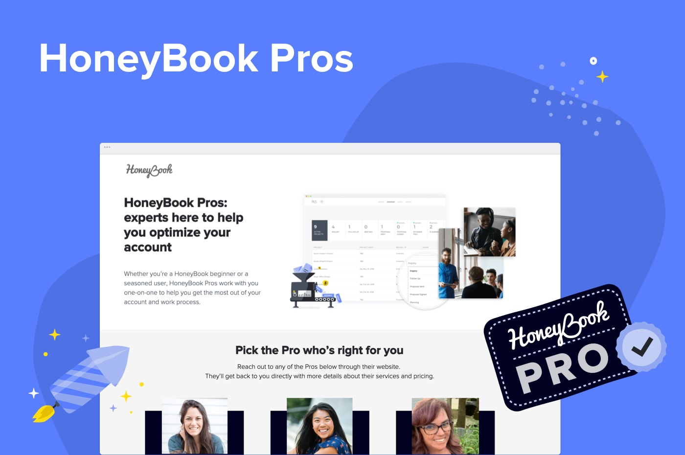 HoneyBook Pros