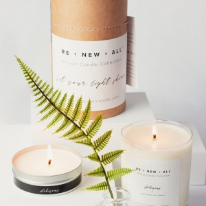 Click to shop RE+NEW+ALL Candle