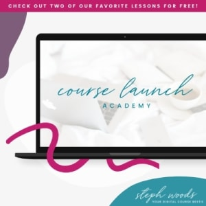 Click to shop Steph Woods / The Course Launch Academy