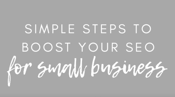 simple steps to boost your seo for small business image