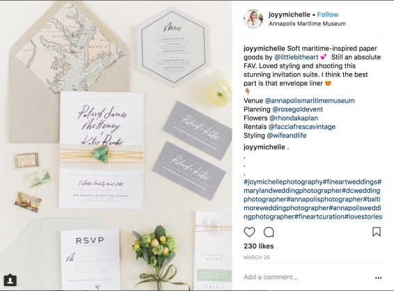 Joy Michelle example of proper Instagram photo credit