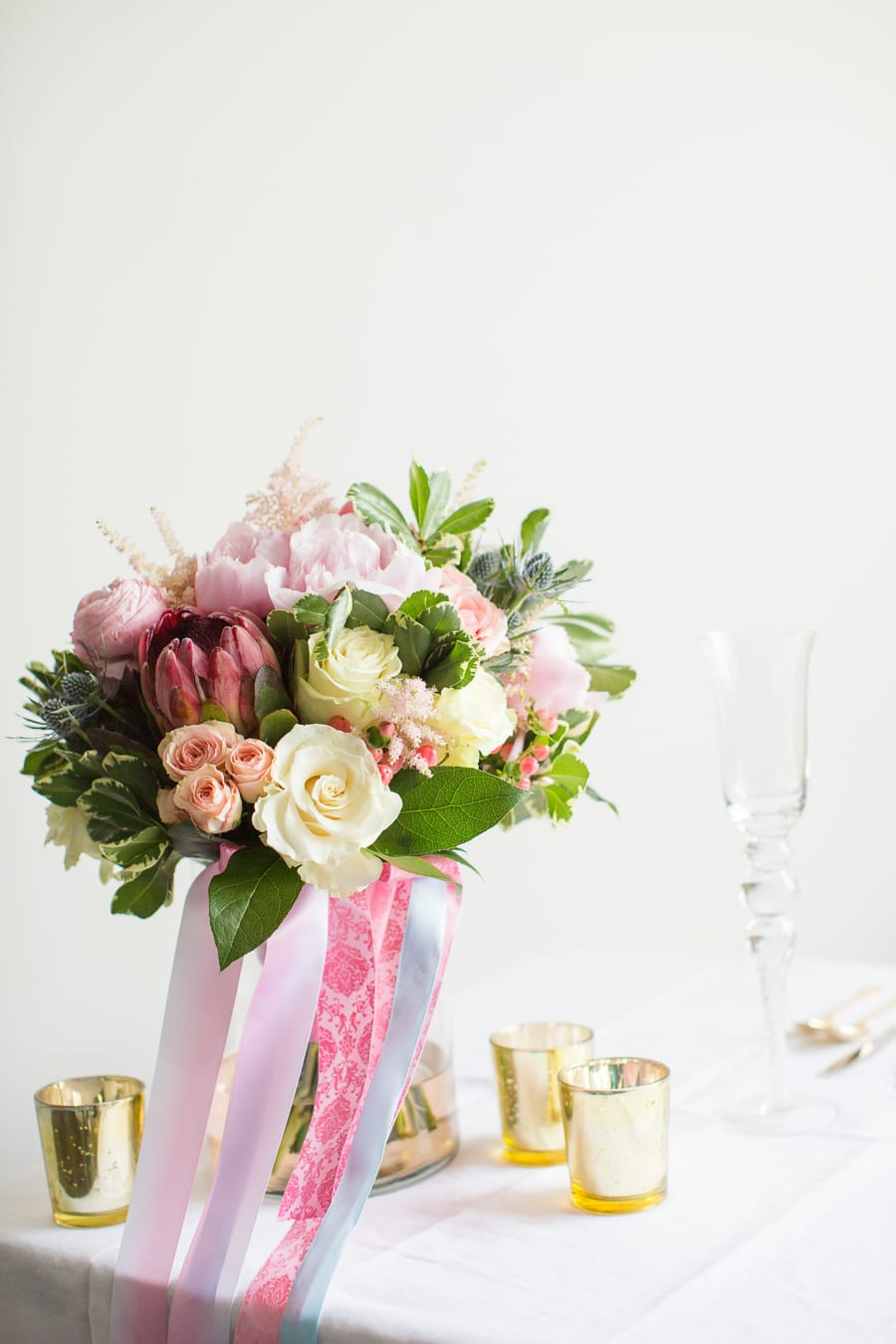 Houston Tuesday Together (Rising Tide Society) Pink and Blue Pantone Colors,Wedding Bouquet