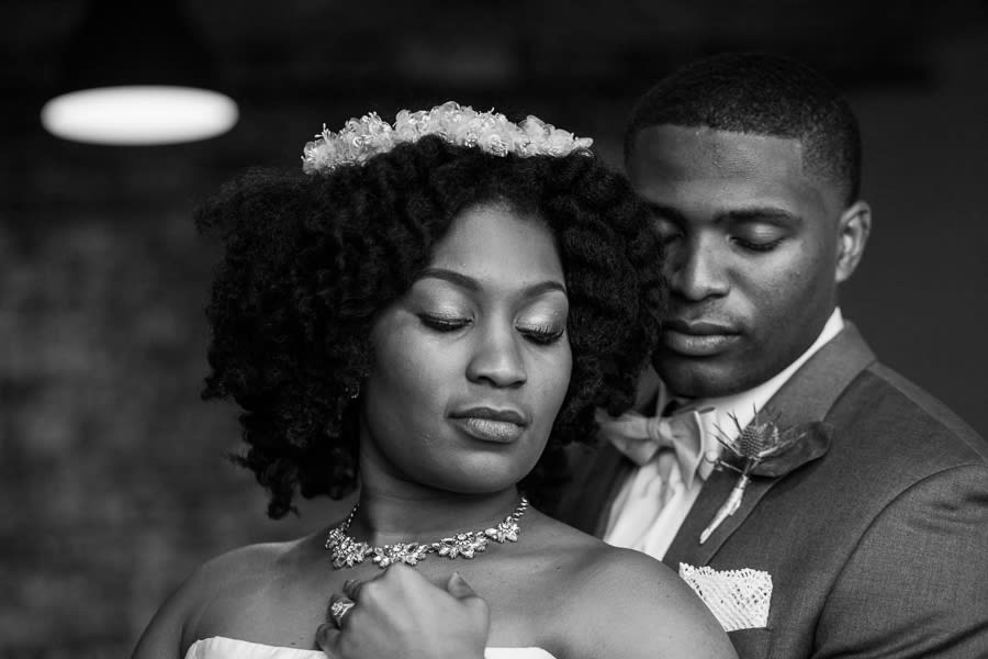 Houston Tuesdays Together (Rising Tide Society) Pantone Colors Styled Shoot, African American Bride & Groom, Colorful Bouquet