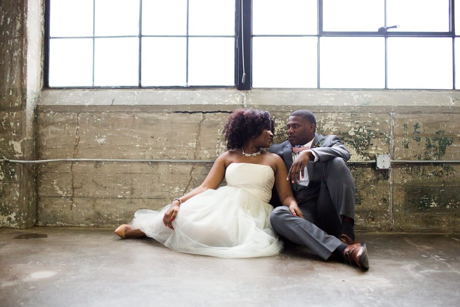 Houston Tuesdays Together (Rising Tide Society) Pantone Colors Styled Shoot, African American Bride & Groom, Industrial Wedding