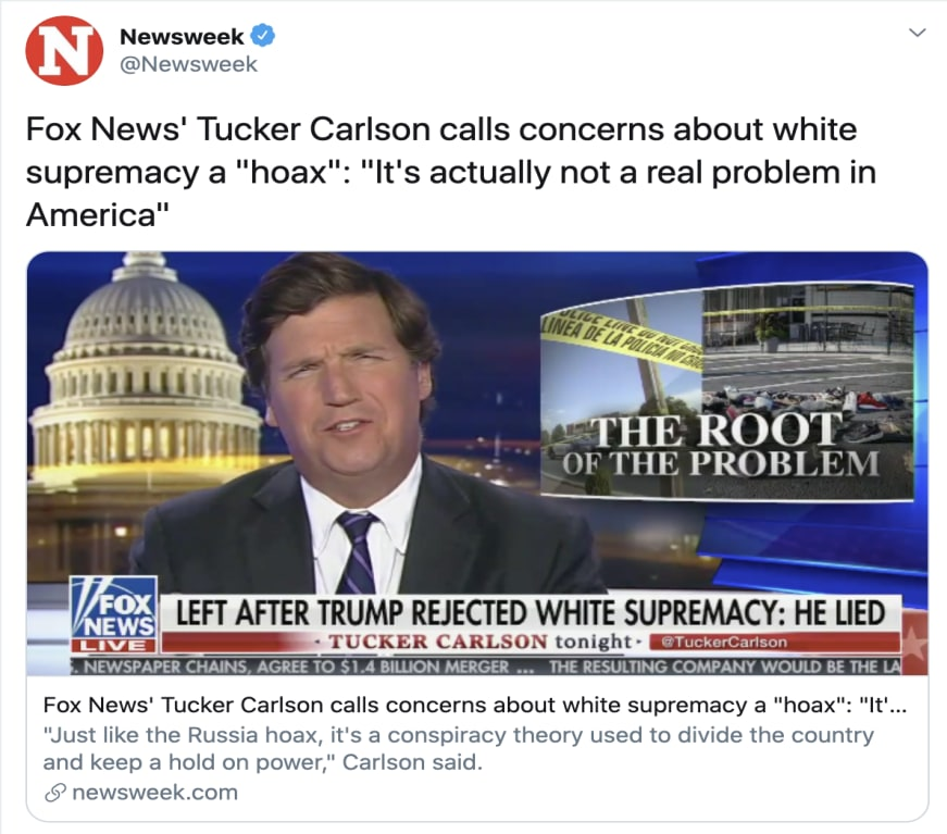 fox-news-tucker-carlson-calls-concerns-about-white-supremacy-a-hoax