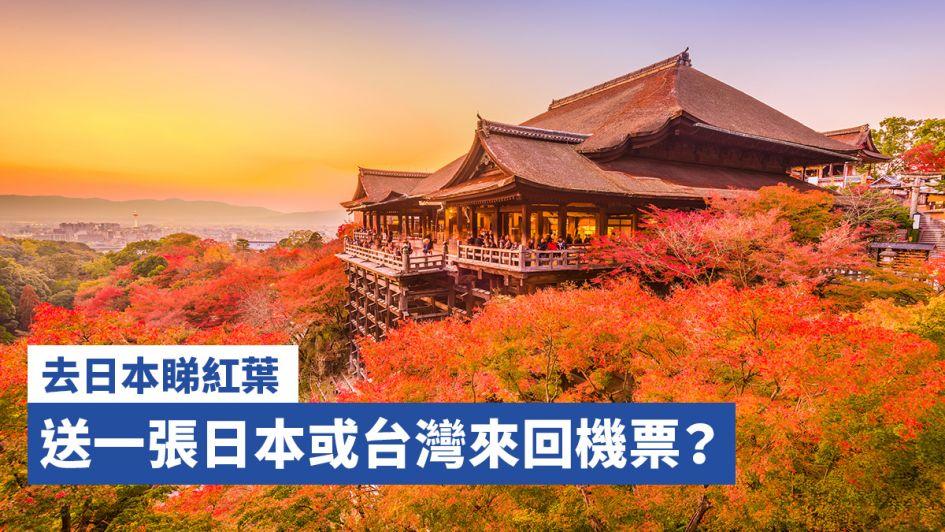 去日本睇紅葉送來回機票