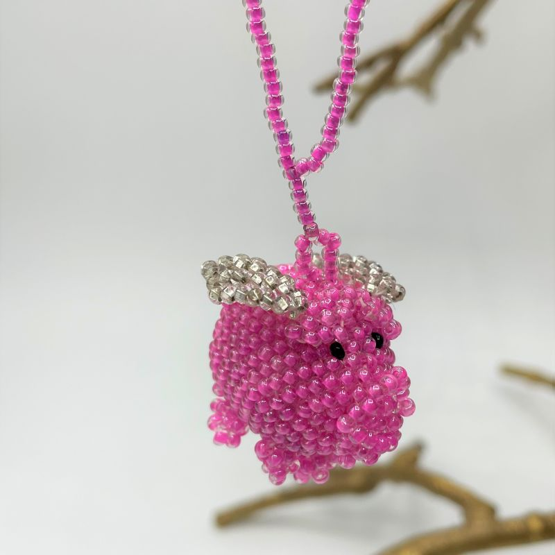 picture of Pink Flying Pig Ornament