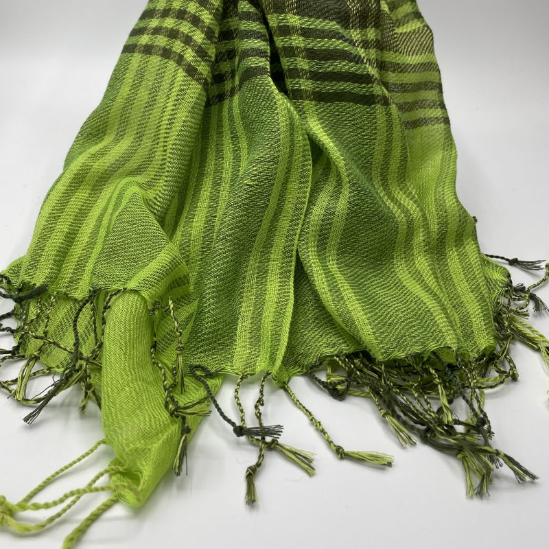 picture of Lime Green and Black Neck Scarf