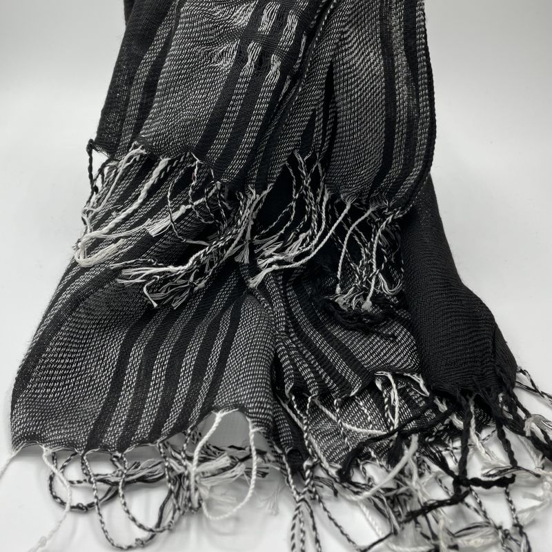 picture of White and Black Neck Scarf