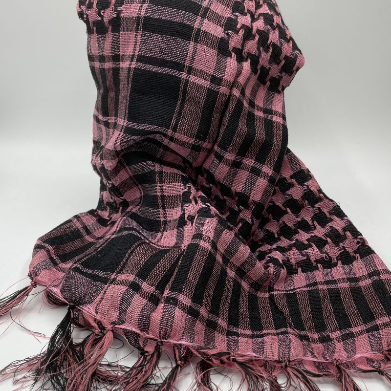 picture of Pink and Black Neck Scarf
