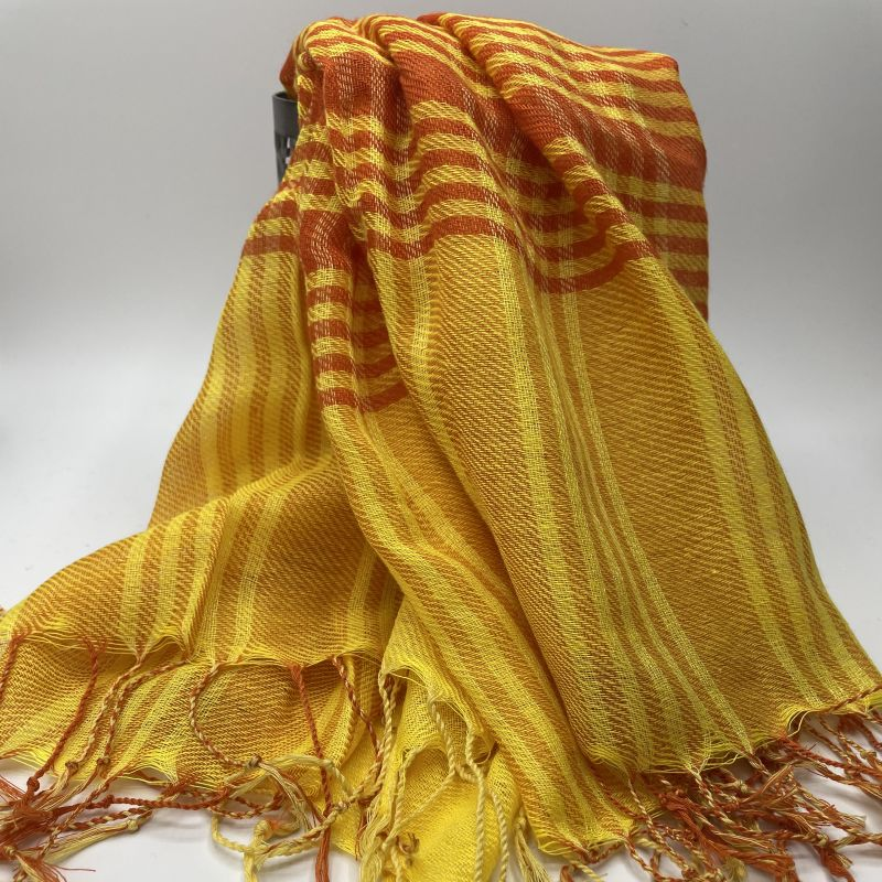 picture of Yellow and Orange Neck Scarf