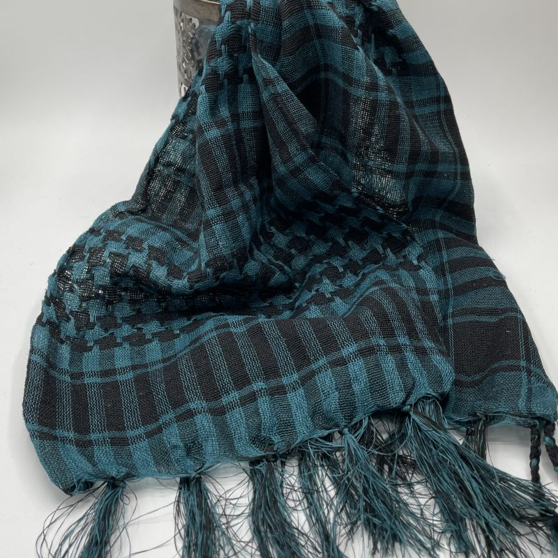 picture of Blue and Black Neck Scarf