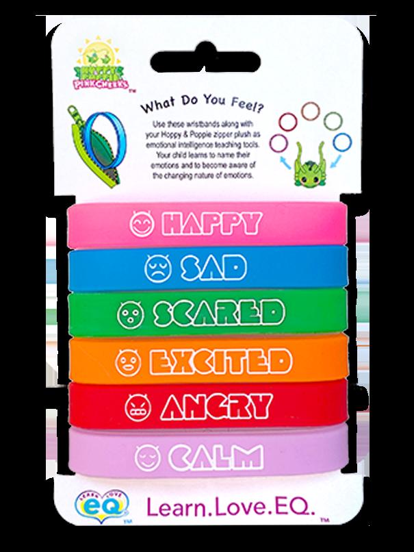 Six emotion wristbands
