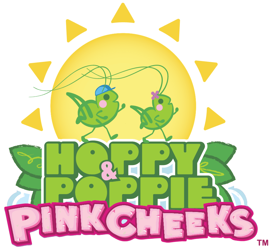 Hoppy and Poppie PinkCheeks Logo