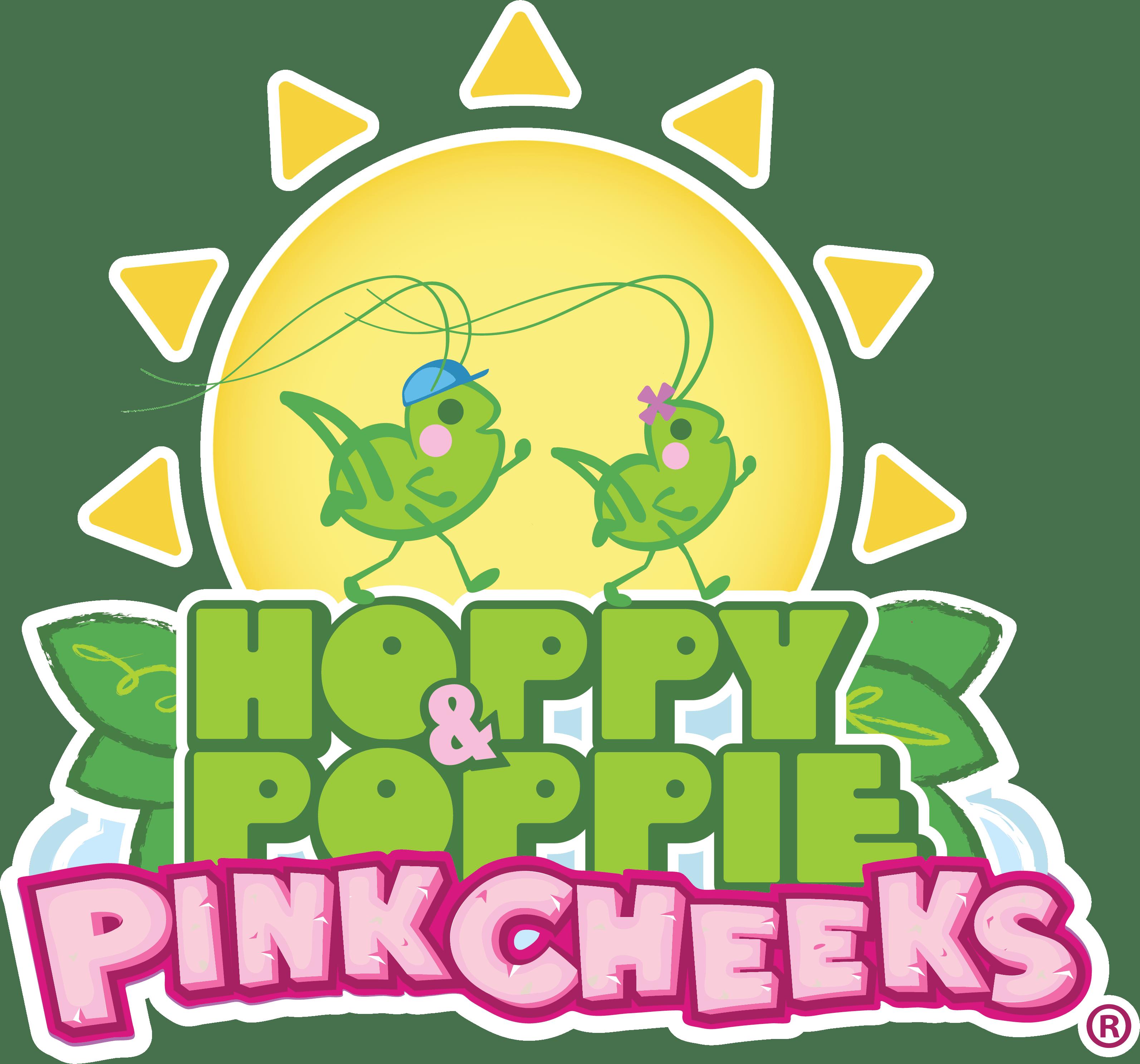 Hoppy and Poppie PinkCheeks Logo