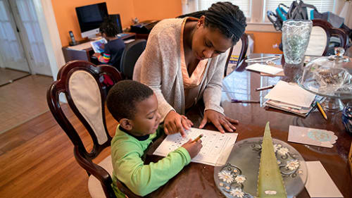 Mother and son pandemic resiliency