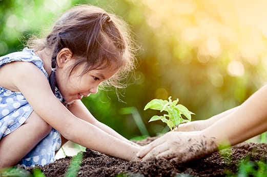 little girl planting tree 5 components of emotional intelligence