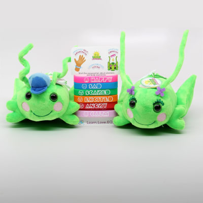 Hoppy and Poppie with the Emotional Intelligence Wristbands