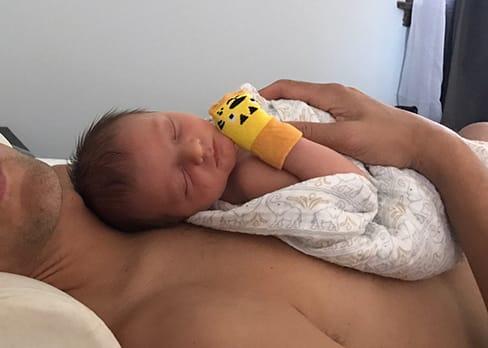 bonding with your baby asleep