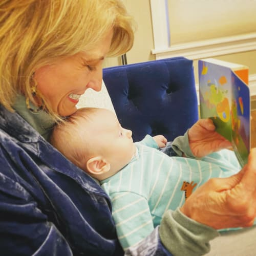 renee reading to toddler building emotion vocabulary