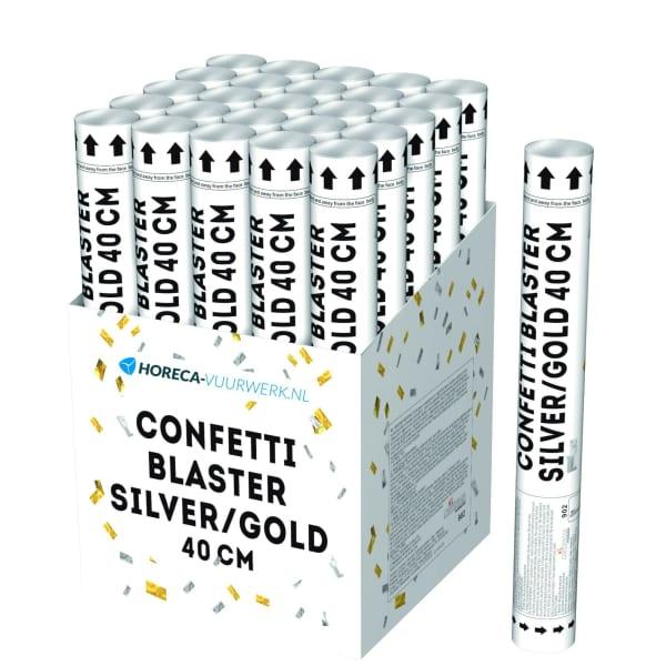 Confetti blaster silver/gold