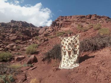 Beni Ourain Rug  Colored Morocco