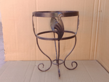 Plant pot holder Metal rod Black Morocco