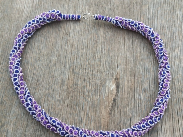 Cluster Necklace  Purple Morocco