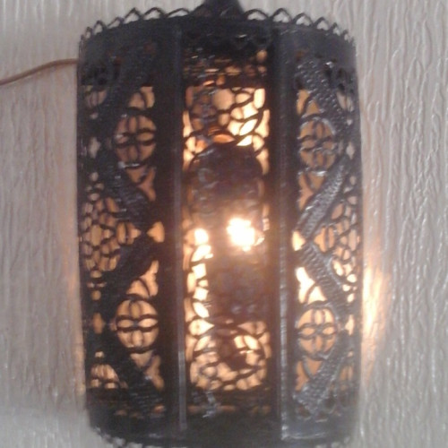 Wall Lantern Steel Black Morocco