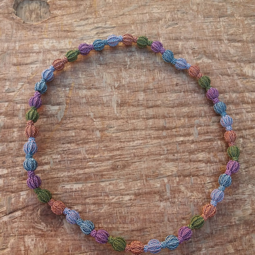 Multistrand Necklace  Colored Morocco