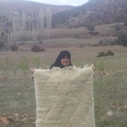 Beni Ourain rug  White Morocco