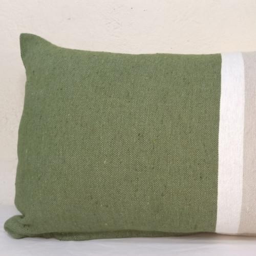 pillow  Green, White Morocco