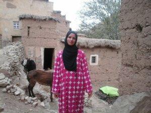 Malika Sahl  from Ait Bouguemez, Morocco