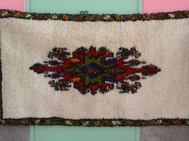Colored Pile Knot Rug