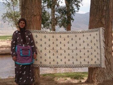 Black Wool Thread  and Wool Wedding Blanket