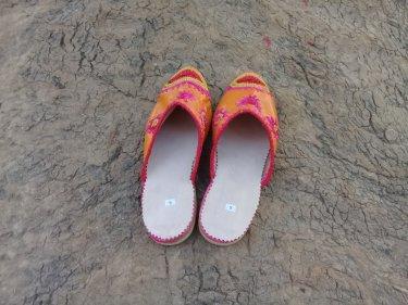 Orange Boho Shoes
