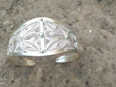 White 800 Tiznit Silver Bracelet