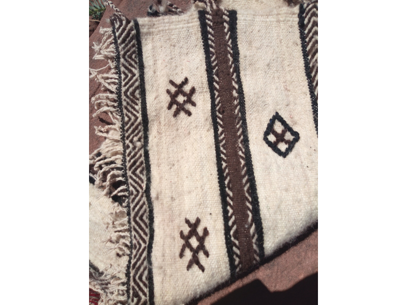 Flatweave Rug  Brown, Black Morocco
