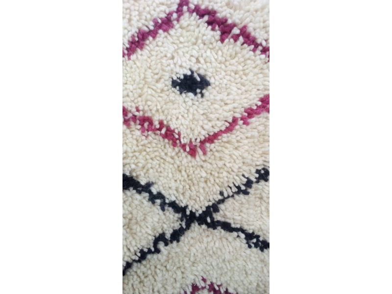Pile Knot Rug  Red, Black Morocco