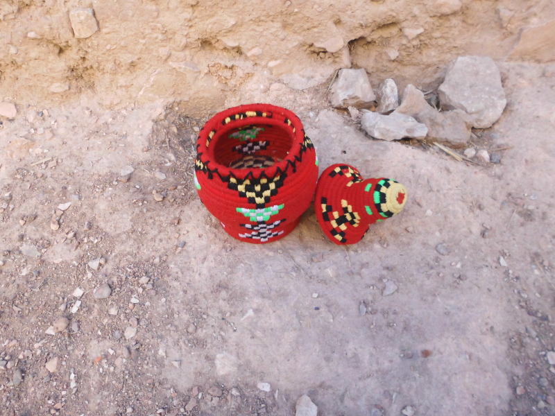 Boucherouite Assorted Threads Colored Morocco