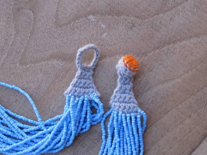 Light Blue Thread Beaded Necklace