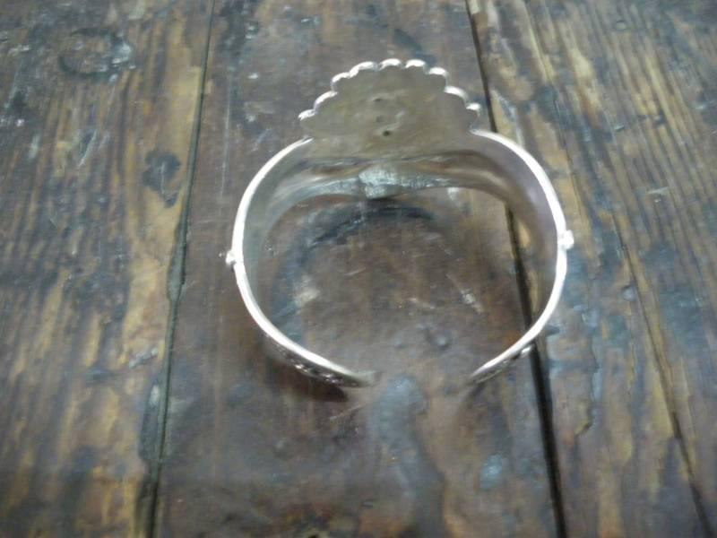 Black Stones and 800 Tiznit Silver Bracelet