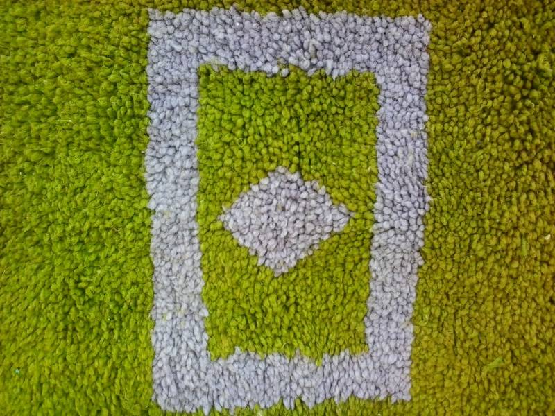 Green Pile Knot Rug