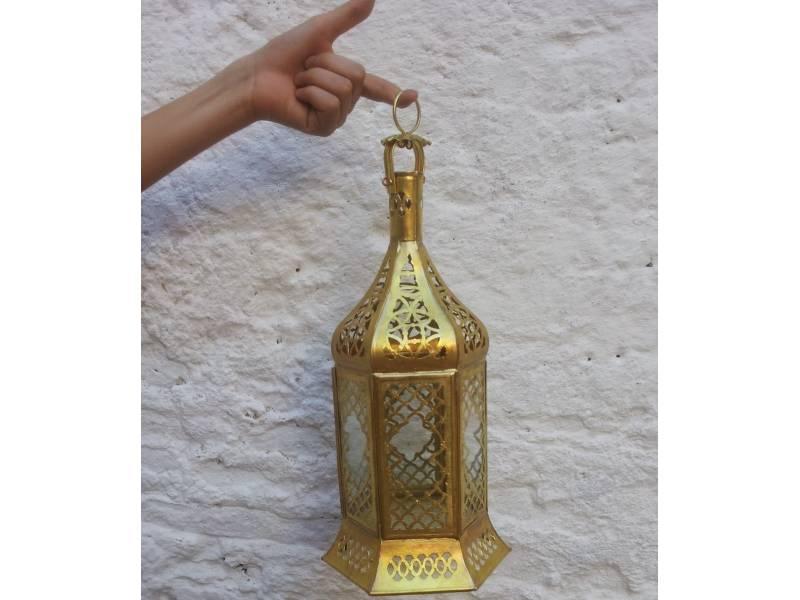 Brown Standing Lantern