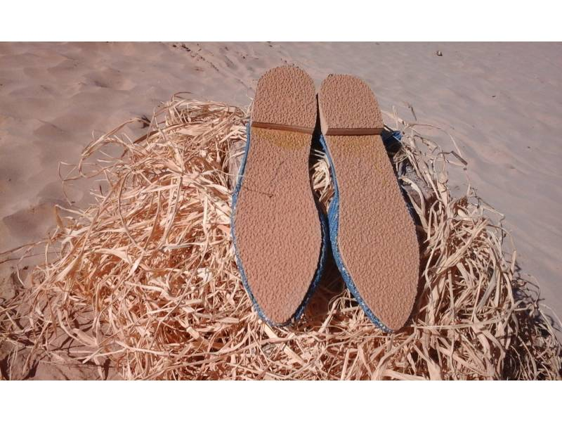 Light Blue Boho Shoes