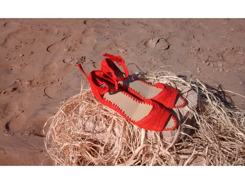 Red Boho Belt
