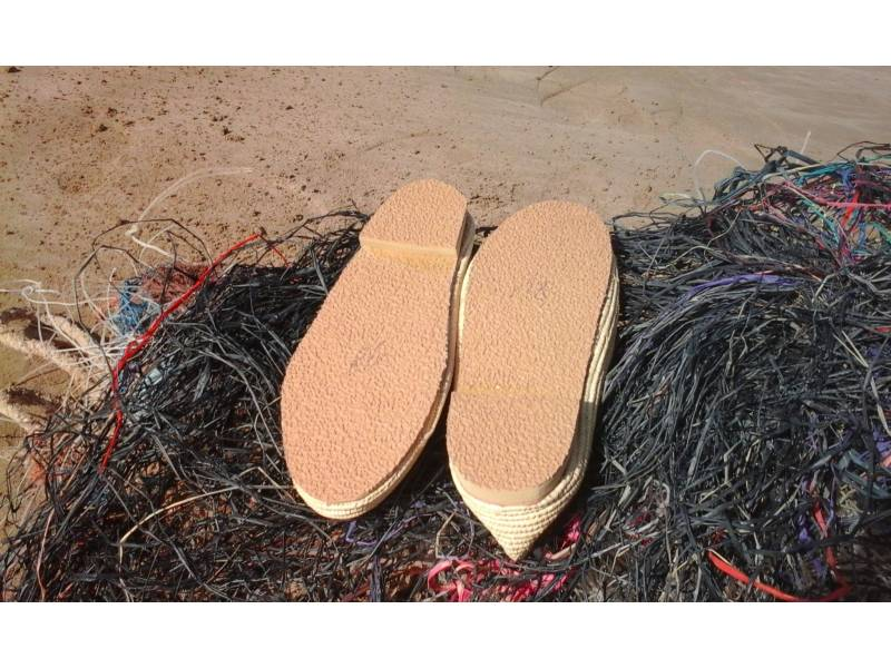 White Rafia fibers and Shoe soles Boho Shoes